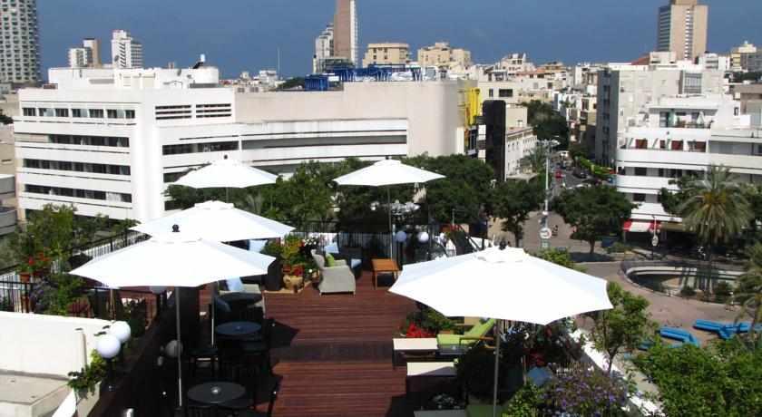 מרפסת נוף לעיר מלון סנטר שיק